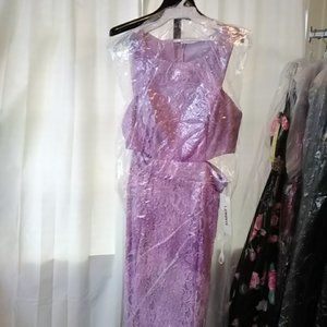 Lenovia Dresses - Glitter Marbled Lace Dress with …
